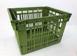 Curver-kunststof-beugelkisten-groen-Hoog-(gebruikt)-59x49x40-cm