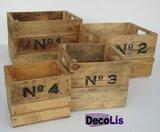 Fruitkisten set nummers Natural vier delig_9
