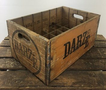 Houten brocante bierkrat 'Darze'