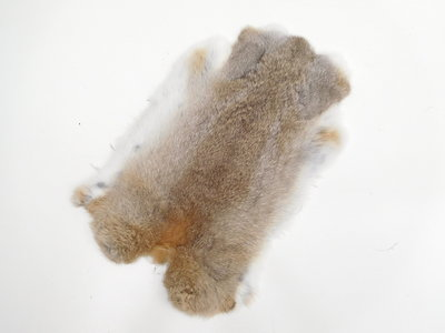 Konijnenvacht Bruin-grijs-wit