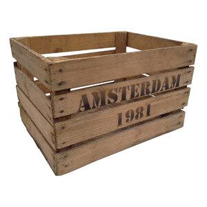 Veilingkist - Fruitkist Amsterdam 1981